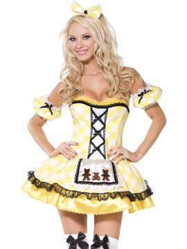 Fever Boutique - Goldilocks For Sale - Fever Boutique Goldilocks Costume, Dress with Apron, Sleeves and Headband | The Costume Corner Fancy Dress Super Store
