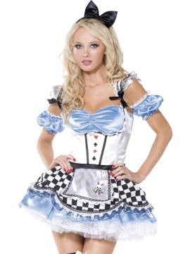Sweet Alice For Sale - Fever Boutique Sweet Alice Costume, Dress with Apron, Sleeves and Headband | The Costume Corner Fancy Dress Super Store