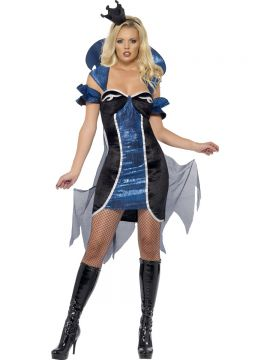 Fever Evil Queen Costume For Sale - Fever Evil Queen Costume, Dress with Cape and Arm Cuffs, in Display Bag | The Costume Corner Fancy Dress Super Store