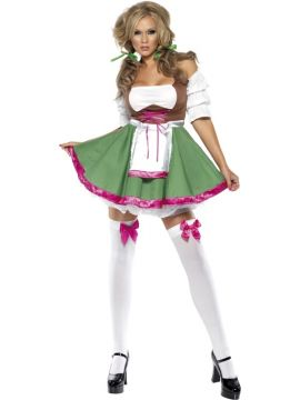 Fever Flirty Frauline For Sale - Fever Flirty Fraulein Costume, with Dress with Apron and Hair Bobbles | The Costume Corner Fancy Dress Super Store