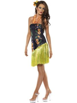 Fever Luscious Luau Costume For Sale - Fever Luscious Luau Costume, Dress with Lei Neckpiece, in Display Bag | The Costume Corner Fancy Dress Super Store