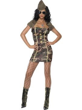 Fever Major Trouble For Sale - Fever Major Trouble Costume, Camouflage, with Dress, Shrug and Hat | The Costume Corner Fancy Dress Super Store