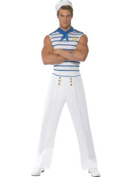 Fever Male French Sailor For Sale - Fever Male French Sailor Costume, with Top, Trousers and Neck Scarf. | The Costume Corner Fancy Dress Super Store