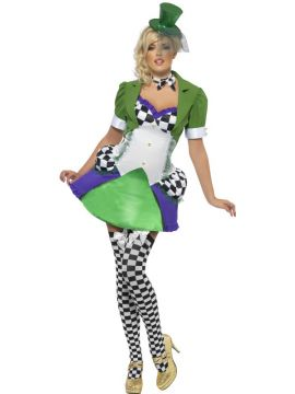 Fever Miss Hatter For Sale - Fever Miss Hatter Costume, with Dress, Jacket and Neck Tie | The Costume Corner Fancy Dress Super Store