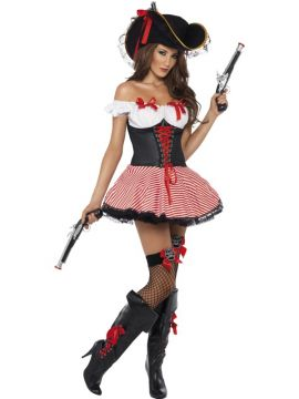 Fever Pirate For Sale - Fever Pirate Costume, includes Dress with Lace-Up Corset | The Costume Corner Fancy Dress Super Store