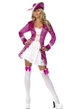 Fever Pirate's Treasure For Sale - Fever Pirate's Treasure Costume, Pink, Jacket with Attached Dress and Hat | The Costume Corner Fancy Dress Super Store