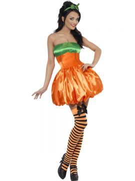 Fever Pumpkin Costume For Sale - Fever Pumpkin Costume, Orange, with Dress and Headpiece, in Display Bag | The Costume Corner Fancy Dress Super Store