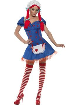 Ragdoll For Sale - Fever Ragdoll Costume, with Dress and Mop Cap | The Costume Corner Fancy Dress Super Store