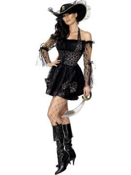 Sexy Swashbuckler For Sale - Fever Sexy Swashbuckler Costume, Black, with Dress and Hat | The Costume Corner Fancy Dress Super Store