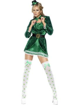 Fever St Patrick's Day For Sale - Fever St Patrick's Day Costume, Green, with Dress, Hat, Bow Tie and Panties | The Costume Corner Fancy Dress Super Store