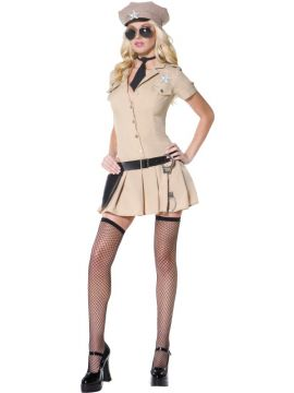 Fever Sultry Sheriff For Sale - Fever Sultry Sheriff Costume, Beige, with Dress, Hat, Belt, Holster and Tie | The Costume Corner Fancy Dress Super Store