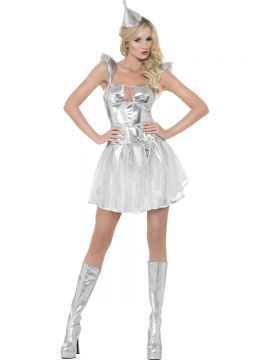 Fever Tin Woman Costume For Sale - Fever Tin Woman Costume, with Dress and Headpiece, in Display Bag | The Costume Corner Fancy Dress Super Store