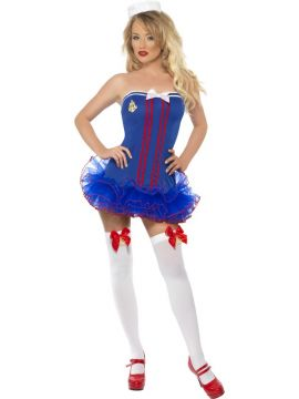 Sailor Tutu For Sale - Fever Tutu Sailor Costume, Tutu Dress with Clear Straps and Hat | The Costume Corner Fancy Dress Super Store