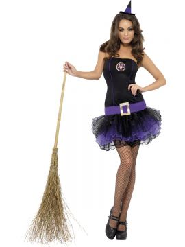 Fever Tutu Witch Costume For Sale - Fever Tutu Witch Costume, Purple, with Dress and Hat, in Display Bag | The Costume Corner Fancy Dress Super Store