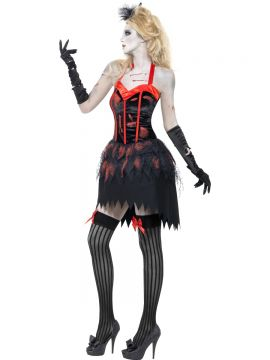Fever Zombie Burlesque Costume For Sale - Fever Zombie Burlesque Costume, Dress with Blood, in Display Bag | The Costume Corner Fancy Dress Super Store