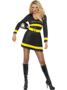 Fire Fighter For Sale - Fever Fire-Fighter Costume, With Dress and Belt | The Costume Corner Fancy Dress Super Store