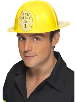 Fireman Helmet For Sale - Bright Yellow Fireman Helmet. | The Costume Corner Fancy Dress Super Store