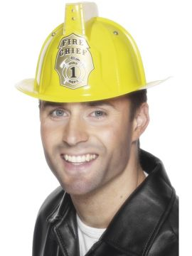 Flashing Fireman's Helmet For Sale - Flashing Fireman's Helmet, Yellow, PVC | The Costume Corner Fancy Dress Super Store