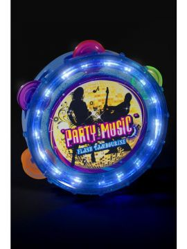 Flashing Tambourine For Sale - Flashing Tambourine, Assorted Colours, Round | The Costume Corner Fancy Dress Super Store