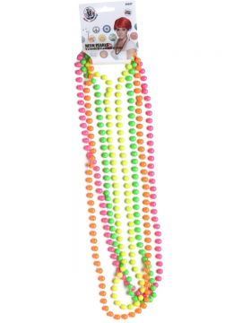 Fluorescent Beads For Sale - Beads Fluorescent, 4 Strands, on Display Card | The Costume Corner Fancy Dress Super Store