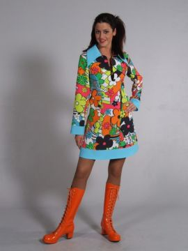 Flower Pattern Mini Dress For Sale - Flower Pattern Mini Dress
