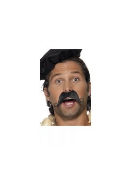 Frenchman Moustache For Sale - Frenchman Moustache, Black, in Display Pack | The Costume Corner Fancy Dress Super Store