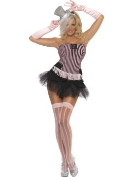 Fringe Stripe Burlesque For Sale - Fever Fringe Stripe Burlesque Costume, With Corset and Skirt | The Costume Corner Fancy Dress Super Store