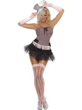 Fringe Stripe Burlesque For Sale - Fever Fringe Stripe Burlesque Costume, With Corset and Skirt | The Costume Corner Fancy Dress Super Store