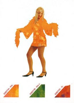 Fun Fur Orange Dress For Sale - Fun Fur Orange Dress (Hire Costume) | The Costume Corner