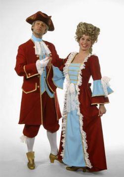 Georgian Lady For Sale - Georgian Lady Light blue and Wine Dress (Hire Costume) | The Costume Corner