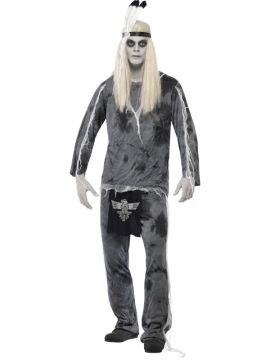 Ghost Town Indian For Sale - Ghost Town Indian Costume, Grey, with Shirt, Trousers and Headpiece | The Costume Corner Fancy Dress Super Store