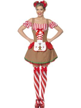Gingerbread Woman For Sale - Gingerbread Woman Costume, Dress with Attached Apron | The Costume Corner Fancy Dress Super Store