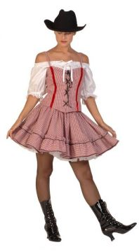 Gingham Cowgirl For Sale - Gingham cowgirl (Hire Costume) | The Costume Corner