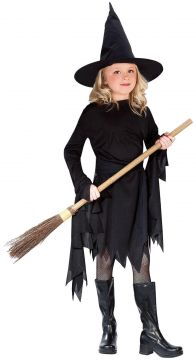 Black Witch Girl For Sale - Contains Dress & Hat