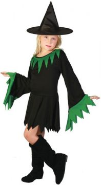 Green Witch Girl For Sale - Includes dress & hat