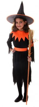 Orange Witch Girl For Sale - Contains Dress & Hat