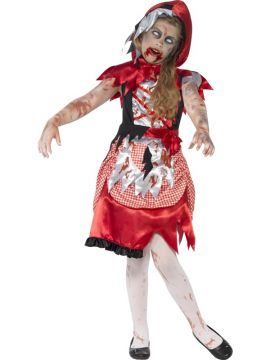 Girls Zombie Miss Hood For Sale - Includes Dress and Hooded Cape | The Costume Corner Fancy Dress Super Store
