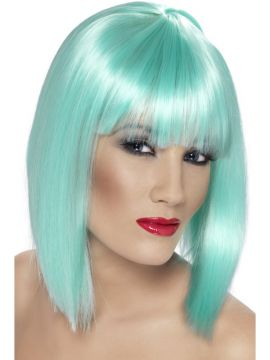 Glam Wig - Blue For Sale - Glam Wig - Blue | The Costume Corner Fancy Dress Super Store