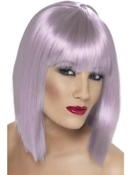 Glam Wig - Grey Purple For Sale - Grey Purple glam wig. | The Costume Corner Fancy Dress Super Store