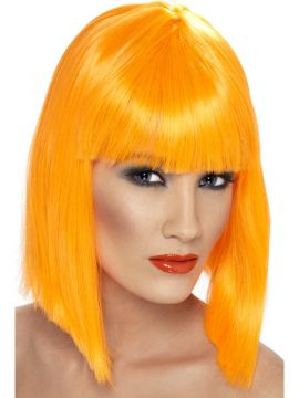 Glam Wig - Orange For Sale - Orange glam wig. | The Costume Corner Fancy Dress Super Store