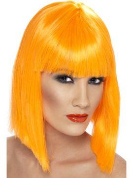 Glam Wig - Orange For Sale - Orange glam wig. | The Costume Corner Fancy Dress Super Store