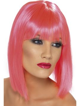 Glam Wig - Pink For Sale - Pink glam wig. | The Costume Corner Fancy Dress Super Store