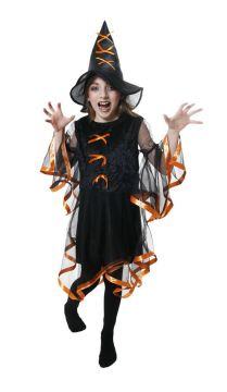 Glam Witch Orange & Black For Sale - Contains Dress & Hat