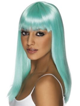 Glamourama Wig - Blue For Sale - Blue glamourama wig | The Costume Corner Fancy Dress Super Store