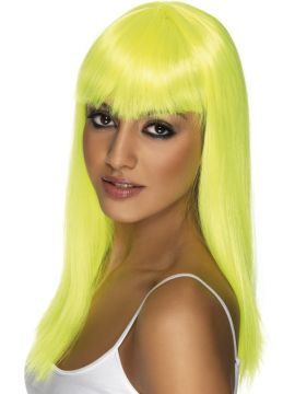 Glamourama Wig - Yellow For Sale - Yellow glamourama wig | The Costume Corner Fancy Dress Super Store