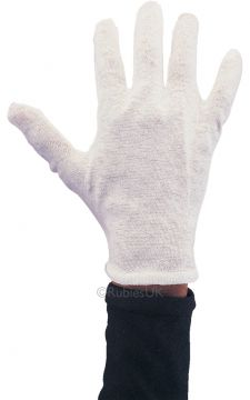 Gloves - White For Sale - One pair of white cotton gloves. | The Costume Corner Fancy Dress Super Store