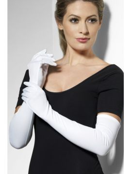 Gloves White Long For Sale - Gloves White Long, 52cm/20.5 inches, in Display Pack | The Costume Corner Fancy Dress Super Store
