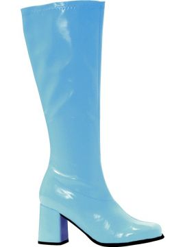 Gogo Boots - Blue For Sale - Adult Female Gogo 60'S Style Boots, Blue Patent M/L Uk Size 6-7 | The Costume Corner Fancy Dress Super Store