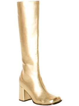 Gogo Boots - Gold For Sale - Gogo 60S Style Patent Boots, Gold | The Costume Corner Fancy Dress Super Store
