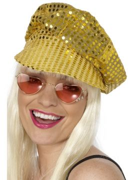 Disco Hat - Gold For Sale - Gold Disco Hat | The Costume Corner Fancy Dress Super Store